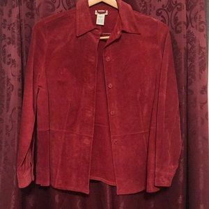 Red suede jacket - washable